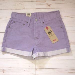 Levi's Lavender Jean Shorts